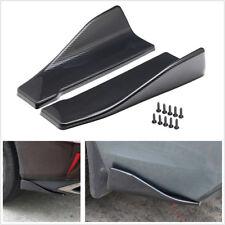 2Pcs Carbon Fiber Look Car Rear Bumper Lip Diffuser Splitter Spoiler Wing Canard