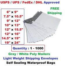Poly Mailers Shipping Envelopes Self Sealing Plastic Mailing Bags All Size Lt1000