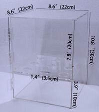 Techtongda 9-Holes Ice Cream Cone Cabinet Holder with Door Clear Acrylic
