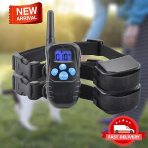 300M Electric Dog Training Collar LCD Remote Control Rechargeable Shock E-Collar