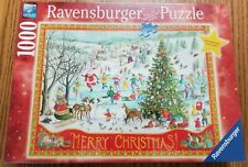 "Ravensburger Christmas 2017 Winter Wonderland ""Merry Christmas"" 1000pc puzzle"