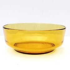 Vintage Retro Amber Glass Seving Fruit Salad Bowl