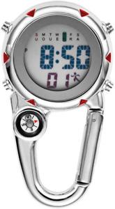Mini Karabiner Uhr Clip auf Quarzuhr für Ärzte Krankenschwestern Sani