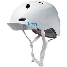 Bern Berkeley Ladies Bike Skate Cycle Helmet Flip Visor XS-S | M-L Satin White