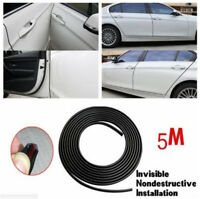 40ft Black Edge Door Guard Trim Car Moulding Guards Auto Molding Protector Strip