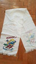 The Smurfs Unisex Vtg 1984 white winter scarf SWAG, 113 cm