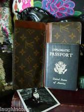 Rare Vintage LOUIS VUITTON Passport Wallet Checkbook Agenda Cover Case Accessory