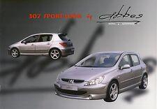 Peugeot 307 Sport Look Abbes 2004 catalogue brochure rare
