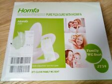 Homfa Kinder Familien WC Sitz Absenkautomatik Toilettendeckel PP Klodeckel...