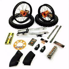 KTM 50 2016-18Orange Big Wheel Swing Arm Full Kit, Inc Tyres. Made & Desiged In