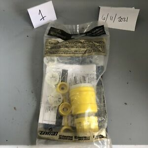 Leviton Wetguard Yellow Industrial Locking Plug 10/15A 125/250V