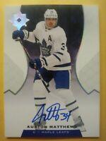 2019 20 Ultimate Collection Auston Matthews Autograph Toronto Maple Leafs Auto