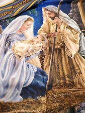 New listing Nativity Scene Christmas Cotton Panel Creche Timeless Treasures