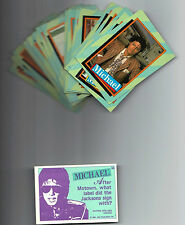 MICHAEL JACKSON   SERIES 2 1984  TOPPS CARD SET (33 CARDS) NM CONDITION