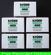 ILFORD DELTA 400 35MM  B. & W. 36 EXPOSURE FILMS  X 5   NEW UK STOCK