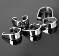500pcs New Silver Stainless Steel Pendant Pinch Clip Clasp Bail Connector 9*7mm