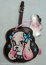 j Tattoo Pooch Cocker Spaniel FLUFF LUGGAGE TAG suitcase ID nwt vegan leather