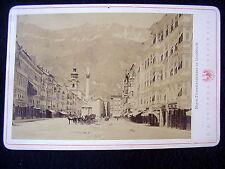 OLD ALBUMEN/CABINET CARD: INNSBRUCK~MARIA-THERESIENSTR.~ANIM.~PHOTO:C.A. CZICHNA