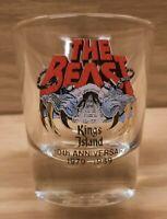 Ohio Kings Island THE BEAST 10th Anniversary 1979-1989 Prize Souvenir Shot Glass