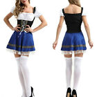 Womens Oktoberfest German Bavarian Lederhosen Beer Costume Fancy Dress Halloween