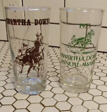 Lot of 2 Vintage Kawartha Downs Drinking Glasses