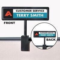 Advantus People Pointer Cubicle Sign Plastic 9 x 2 1/2 Black 75334