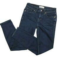 Madewell womens Jeans Skinny size 26 Mid Rise Dark Wash Stretch Denim Blue