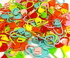 Knitting Markers Crochet Clips, Stitch Counter Needle Clips Plastic Craft