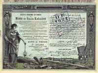 Ottomane Mines de Balia 1920 Karaidin Constantinople Türkei Bleibergwerk Brousse