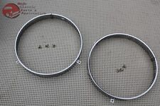"7"" Headlight Headlamp Bulb Retaining Retainer Trim Ring Set GM Chevy Oldsmobile"