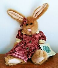 Sophie Retired Boyd'S Bears Plush Brown Hare Bunny 12� New With Tags