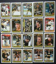 1990-91 Topps Boston Bruins Team Set of 20 Hockey Cards