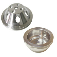 Aluminum Water Pump Pulley 1 Groove LWP & Crankshaft Pulley 1 Groove LWP For SBC
