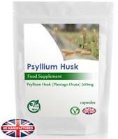 Psyllium Husks Capsules 500mg | Weight Loss, Detox, Natural Soluble Fibre | UK