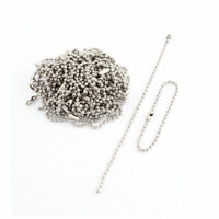 Stainless Steel Beaded Ball Linked Chain Silver Tone 15cm Length 50 Pcs
