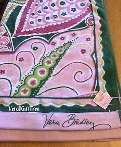Vera Bradley PINWHEEL PINK Beach Towel Oversized RARE Breast Cancer Pattern NWT