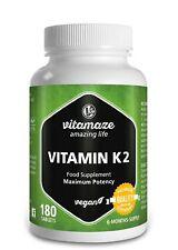 180 Compresse Vitamina K2 Vitamaze Menachinone Mk-7 alto dosaggio per cura Vegan