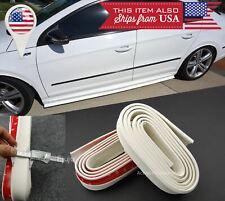 2 x 8 FT White EZ Fit Bottom Line Side Skirt Lip Trim Extension For VW Porsche