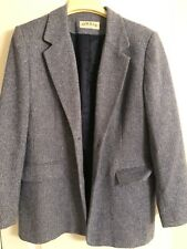 Orvis Tweed Blazer Herringbone Design w/ Gray, Navy, and White - Size 12