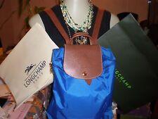NWT Longchamp Le Pliage Backpack Bag BLUE NYLON KNAPSACK TOTE & DUST BAG AUTHENT