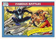 SPIDER-MAN VS. KRAVEN / Marvel Universe Series 1 (Impel 1990) BASE Card #92