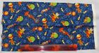 Makower,fabric,for quilting,craft,100% cotton cats in circus,blue fat quarter