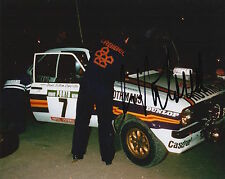 Ari Vatanen mano firmado Rothmans Ford Escort 10x8 Foto Rally Campeón del Mundo 7.