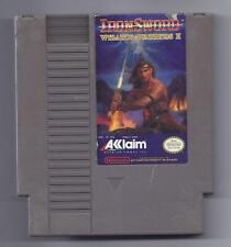 Vintage Nintendo Iron Sword Wizards & Warriors 2 Video Game NES Cartriage VHTF
