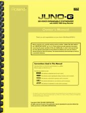 Roland Juno-G Synthesizer Owner's Manual AND Service Notes