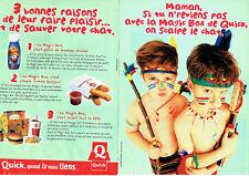 Publicité Advertising 117  1996   restaurants Fastfood Quick ( 2 pages)