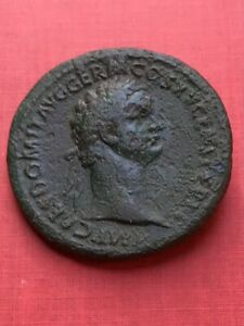 DOMITIAN,Sestertius,Rome Mint,35mm/23.8g