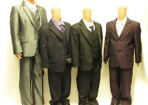 Boys Smart Wedding Suit Prom Page Baby Formal Funeral Party 3 5 Piece Waistcoat