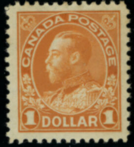 Canada  Stamps #122 mhr orange $1.00 VF