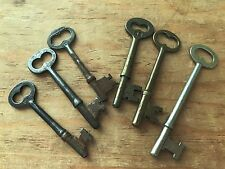 Genuine Antique Skeleton Pass Key Lot Barrel Lock Ornate Steampunk Uncut